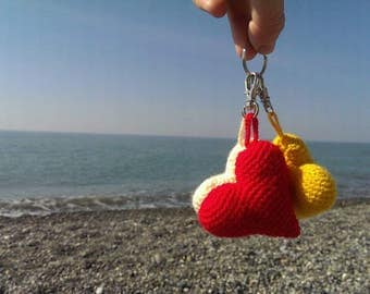 Red heart, heart, crochet heart,  amigurumi, little heart, gift for Valentine's Day, gift for mother, gift for girl