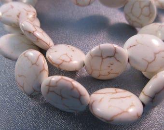White Magnesite Coin Beads 27pcs