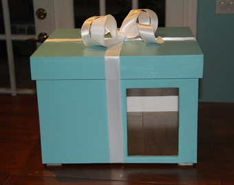 Light Blue Present Box indoor DOGHOUSE