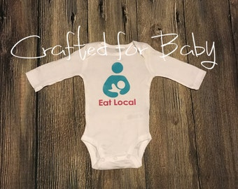 Eat Local Funny Breastfeeding Onesie