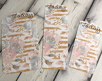 Today Planner Bookmark Golden Blooms