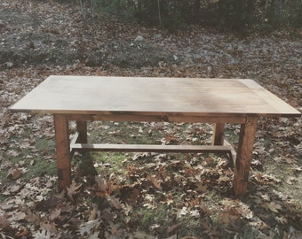 Rustic Farmhouse Style Dining Room Table, Reclaimed Wood Dining Table, Farm Table
