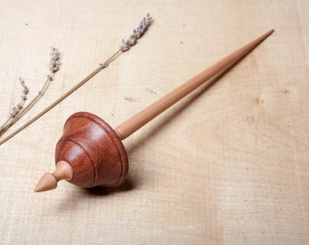 Supported Spindle | Tibetan Style Spindle | Hand Made Support Spindle | Hardwood | Bubinga and Pear