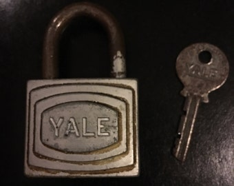 Antique yale lock with key