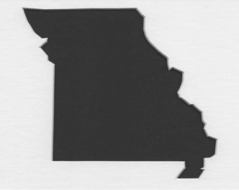 Pack of 3 Square Missouri State Stencils Made From 4 Ply Mat Board 12x12, 8x8 and 6x6