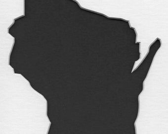Pack of 3 Wisconsin State Stencils, Made from 4 Ply Mat Board 18x24, 16x20 and 11x14