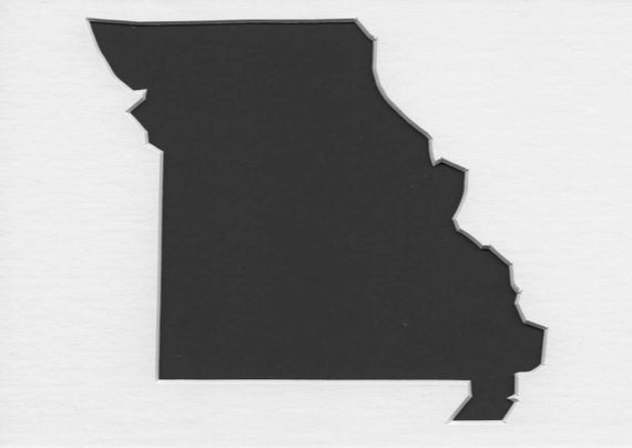 Pack Of 3 Square Missouri State Stencils Made From 4 Ply