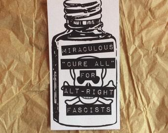 Anti-Fascist Cure All Sticker
