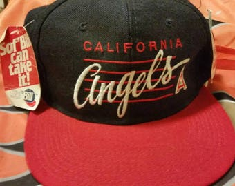 California angels snapback, snap back, dead stock, 90s,vtg vintage hat,MLB hat, baseball hat, youngan hat, soft bill