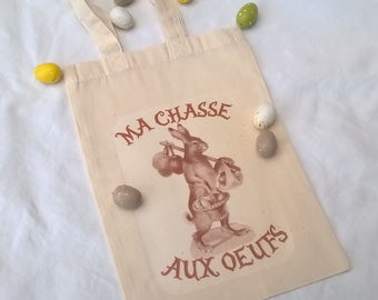 Bag for 26 x 18 cm customizable sepia Easter egg hunting