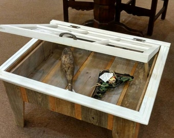 Awesome Antique Window Shadow Box Coffee Table Custom Made