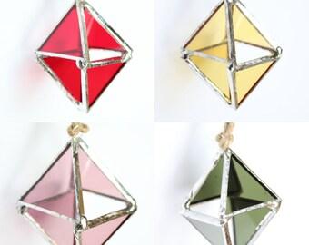 Diamond Stained Glass Suncatcher