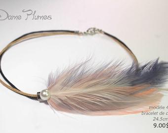 Feathers anklet bracelet