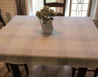 Yellow Plaid Tablecloth