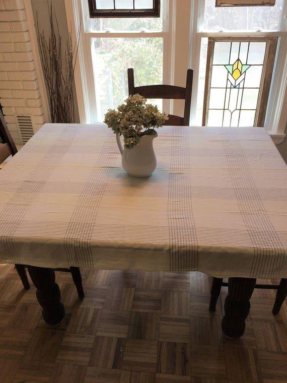 Yellow Plaid Tablecloth