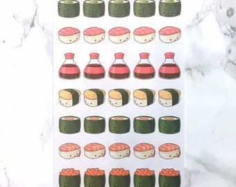 Kawaii Sushi Decorative Stickers