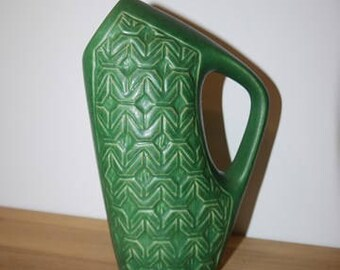 Bornholm - Ceramic - Vase - Relievo pattern - Denmark - Mid Century -