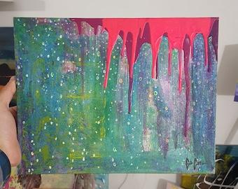 RAIN original 11x14 painting by me, Mr.Dojo.