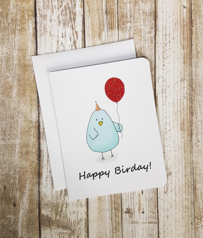 Birthday Card Bird Card Funny Birthday Card Funny Card – Funny Birthday Card Puns