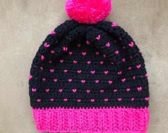 Snowfall Slouchy Crochet Hat