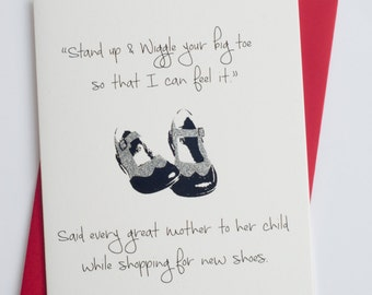 Wiggle Your Big Toe | Funny Mother's Day | Mother's Day Card
