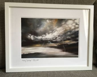 Large moody seascape giclee print