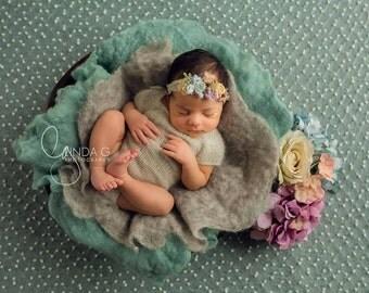 Angora knitted newborn rompers/pink angora romper/white angora romper/Knitted newborn props/angora newborn props