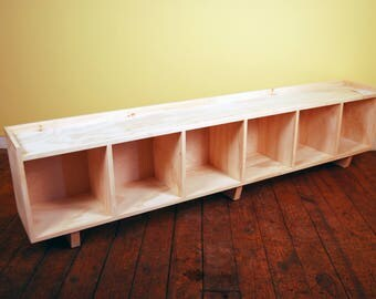 Six Cube Bench/Entertainment Center Finished/Unfinished Modern Minimalist Furniture