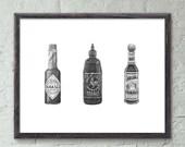 "Hot Sauce - 11x14"" Limited Edition Fine Art Digital Giclee Print"