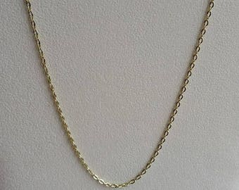 """Gold Plated Necklace, Gold Plated Chain, Gold Necklace, Gold Chain, 22 inch Gold, 22"""" Gold, 22"""" Necklace, 22"""" Chain, Gold Link Chain, Link"""