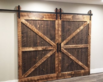 Sliding Barn Door Complete Set, Authentic Character!