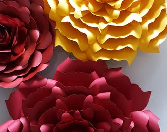 Paper Flowers 5 designs to choose XL