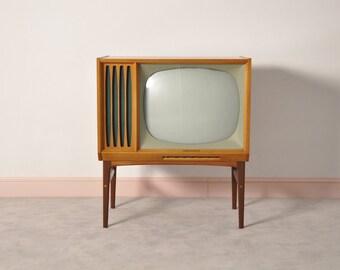 Mid century teak Philips tv 60's