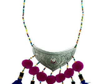Necklace Hill Tribe Stylish Tribal Bohemian Jewellery Unique Accessories