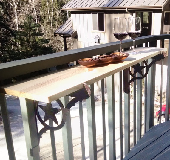 Kulshan Balcony Railing Table Bracket for Deck Bars, Countertops, Planter Box and more! Two Step Easy Installation.