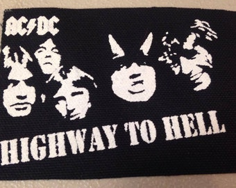 PATCH ACDC Highway To Hell silkscreen