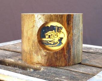 Log Cabin Aspen Candle Holder