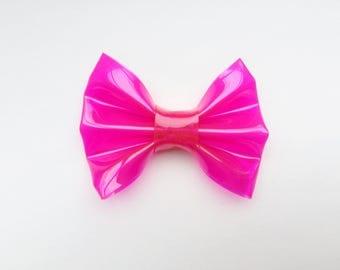 MINI Fuschia Jelly Bow, baby headbands, baby hair clips, hair bows, pink bows, baby girl, hair clips