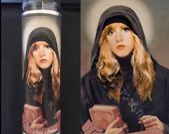 Stevie Nicks Devotional Prayer Saint Candle