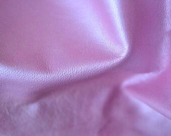 Pink Lavender  Natural Italian Leather 7-8 sq ft 80cm x 65cm 1 mm Italian Leather Genuine Hide Plush Pink METALIC Bubble Gum Pink  b791