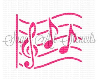Cookie stencil musical  music note NB700126