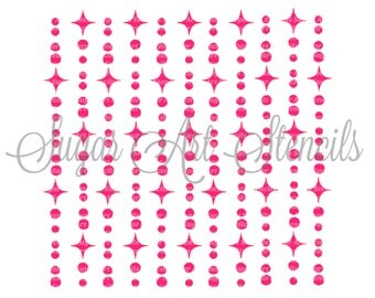 Cookie stencil chic garland bling background pearl and sparks NB700156