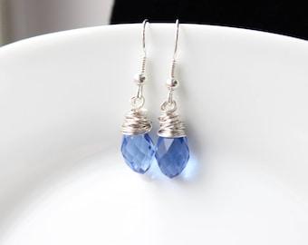 Wrapped Crystal Drop Earrings