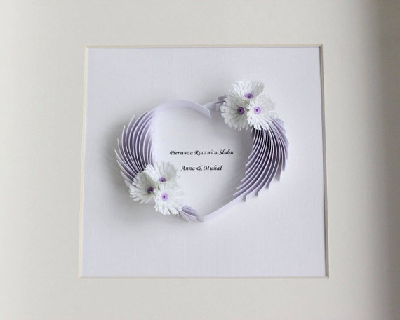 Wall Decor Gifts : First anniversary gift paper wall art quilling wedding