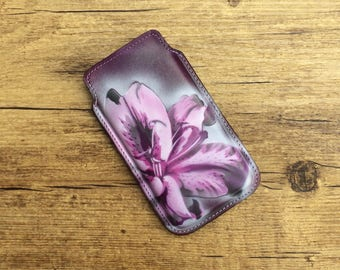 Unique cell phone case for iPhone SE / 5 / 5s with airbrush design