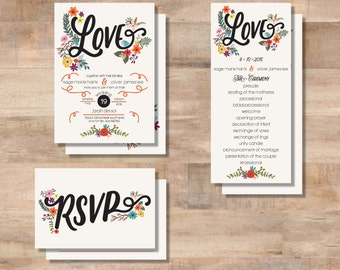S+O Wedding Invitation Suite