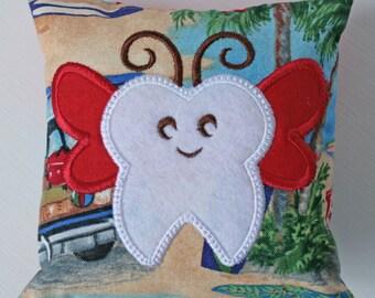 Tooth Fairy Pillow. Boy Tooth Fairy Pillow. Fairy. Tooth Pillow. Decorative Pillow.