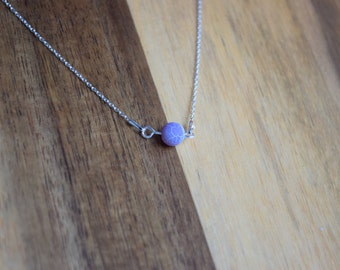 Silver Minimalistic necklace with Agate