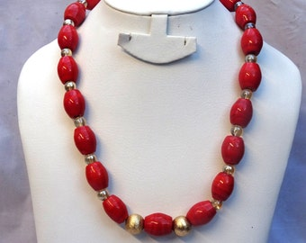 Breakable coral beads Necklace Jewellery