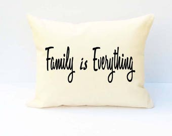Family Pillow, Throw Pillow, Word Pillow, Pillow With Saying, Phrase Pillow